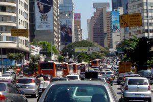 Traffic jam in Sao Paolo, Brazil